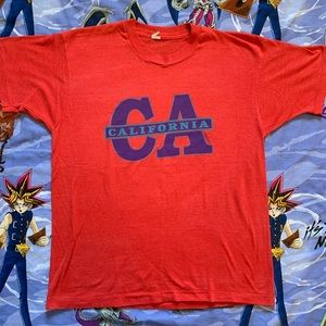 Vintage 80s California Spell Out Graphic Tee